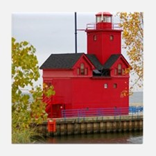 Big Red, Holland MI Tile Coaster