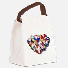 Europe Soccer Canvas Lunch Bag