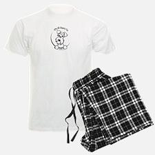 White Schnauzer IAAM Logo Pajamas