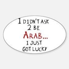 Lucky Arab Oval Decal