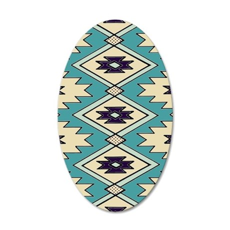 Native Chieftain Pattern 20x12 Oval Wall Decal