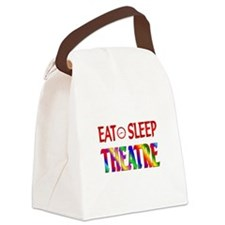 Eat Sleep Theatre Canvas Lunch Bag