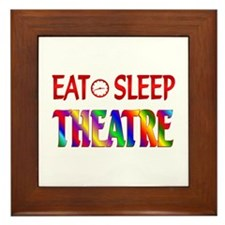 Eat Sleep Theatre Framed Tile