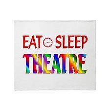 Eat Sleep Theatre Throw Blanket