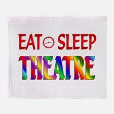 Eat Sleep Theatre Throw Blanket