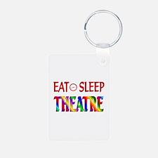 Eat Sleep Theatre Keychains