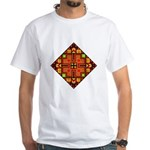 Folk Design 4 White T-Shirt