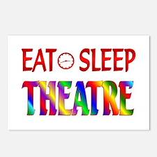 Eat Sleep Theatre Postcards (Package of 8)
