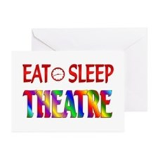 Eat Sleep Theatre Greeting Cards (Pk of 10)