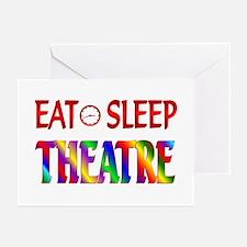 Eat Sleep Theatre Greeting Cards (Pk of 20)