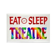 Eat Sleep Theatre Rectangle Magnet (100 pack)