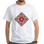Folk Design 3 White T-Shirt