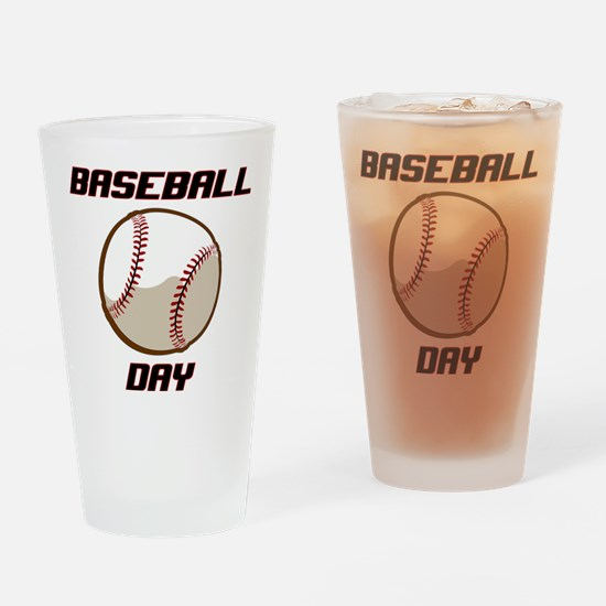 BASEBALL DAY Drinking Glass