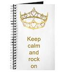 Keep calm rock on Queen Hearts Crown Journal