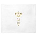 Keep calm rock on Queen Hearts Crown King Duvet