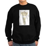 Keep calm rock on Queen Hearts Crown Sweatshirt (d