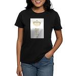 Keep calm rock on Queen Hearts Crown Women's Dark