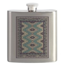 Native Chieftain Pattern Flask