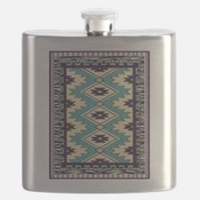 Native Chieftain Pattern Flask