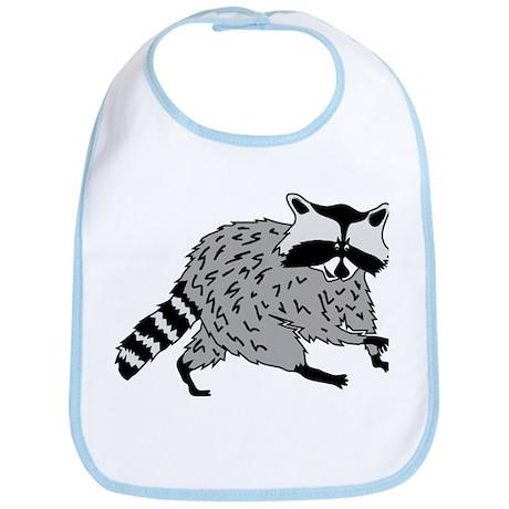 raccoon coon waschbär cute animal Bib