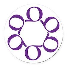LEAN/Six Sigma Round Car Magnet