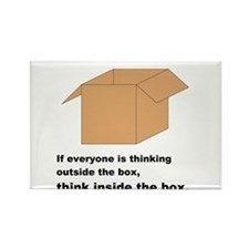Think Inside the Box Rectangle Magnet