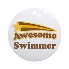 Awesome Swimmer gift Ornament (Round)