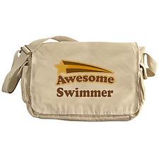Awesome Swimmer gift Messenger Bag