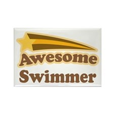 Awesome Swimmer gift Rectangle Magnet
