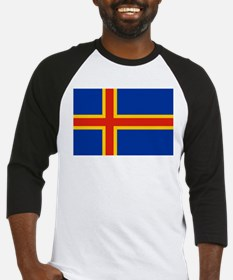 Flag of Aland Islands Baseball Jersey