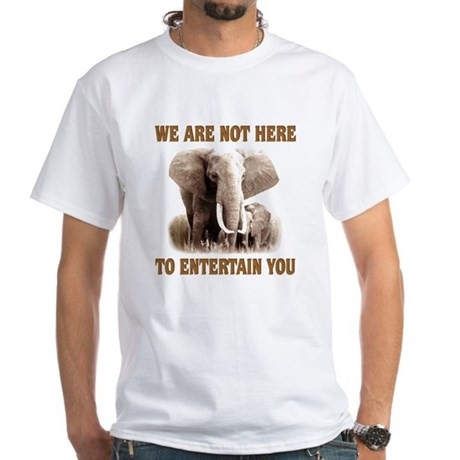 We Are Not Here White T-Shirt
