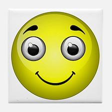 Yellow Smiley Tile Coaster