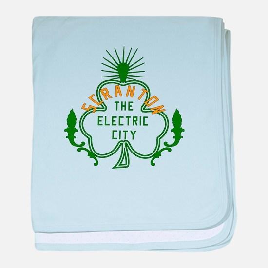 Scranton Electric City Shamrock baby blanket