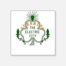 "Scranton Electric City Shamrock Square Sticker 3"""