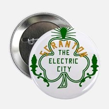 "Scranton Electric City Shamrock 2.25"" Button"