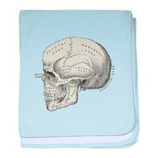 Skull Anatomy baby blanket