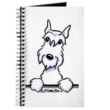 White Schnazuer Paws Up Journal