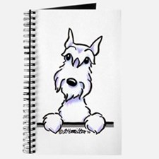 White Schnazuer Paws Up Journal