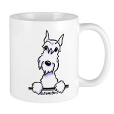 White Schnazuer Paws Up Mug