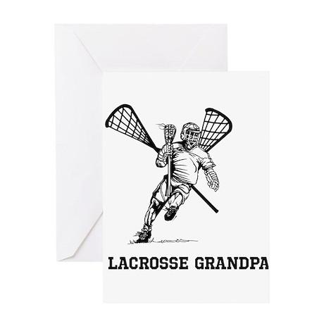 Lacrosse Grandpa Greeting Card
