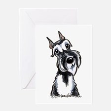 Schnauzer Smile Greeting Card