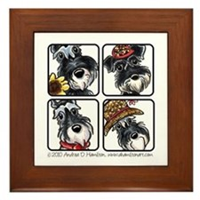 Four Schnauzers Framed Tile