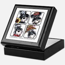 Four Schnauzers Keepsake Box