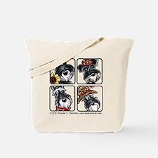Four Schnauzers Tote Bag