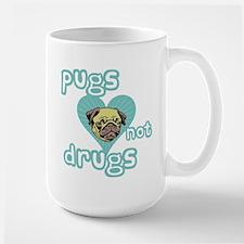 PUGS Not DRUGS! Large Mug