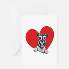 Schnauzer in Heart Greeting Card