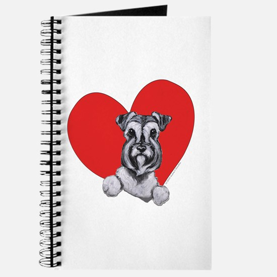 Schnauzer in Heart Journal