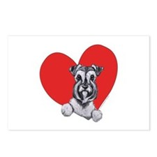 Schnauzer in Heart Postcards (Package of 8)