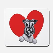 Schnauzer in Heart Mousepad