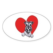 Schnauzer in Heart Decal